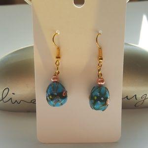 Jewelry - 💎Blue 💙🥚 shaped💎 Statement Earrings 💎👀
